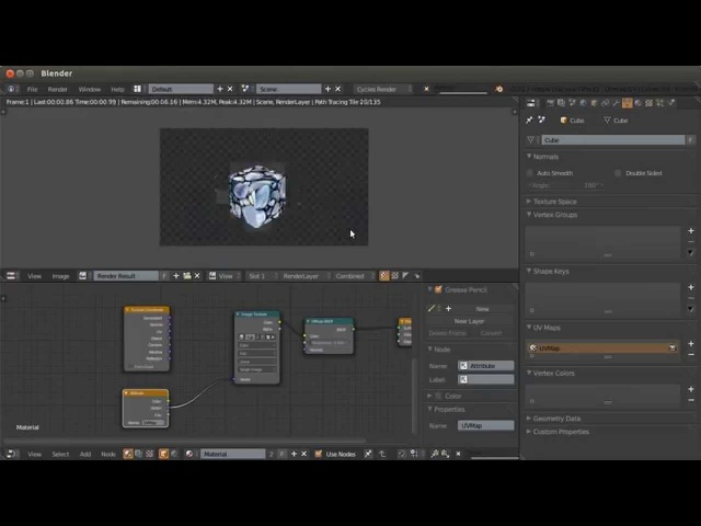 Blender. Анимация. Урок 08с - Рендер с UV развёртками в Blender