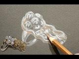 Золотое кольцо Медуза от эскиза до готового изделия процесс