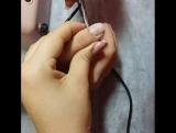Работа ученицы! Школа ногтей Кристины Ри Ессентуки Комбинированный маникюр аппарат + ножнички