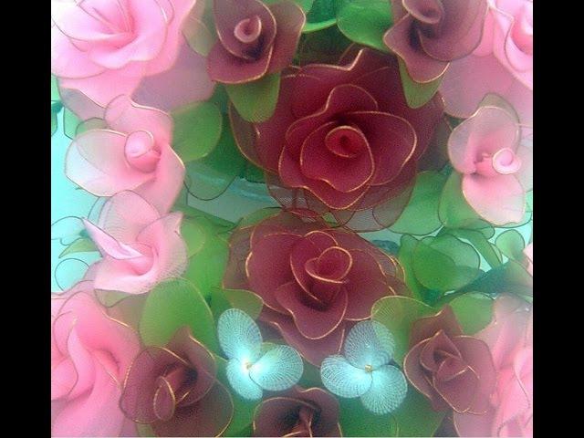 Цветы из капроновых колготок обворожительны