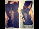 D I Y T Shirt Reconstruction Cut Up Back 2 Weave Pattern