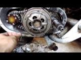Замена сцепления на двигателе Восход  3м-01, Часть 1 - разборка