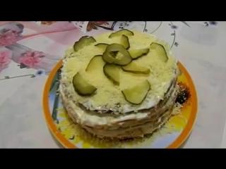 Печеночный торт  -День - Ночь-. Рецептик прост а тортик вкусный.