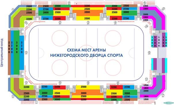 """Схема мест во Дворце спорта """""""