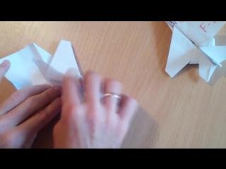 Самолет оригами истребитель F - 16, origami plane (Tadashi Mori)