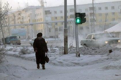 В Якутске за ночь похитили девять светофоров