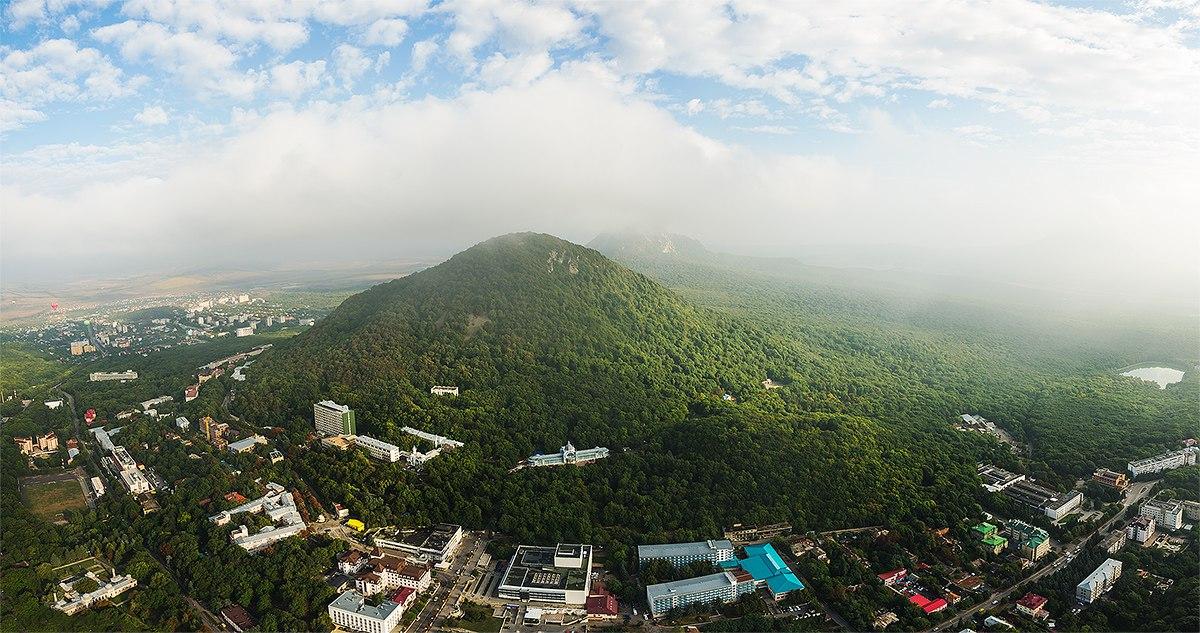 Гора Железная, фото с воздушного шара