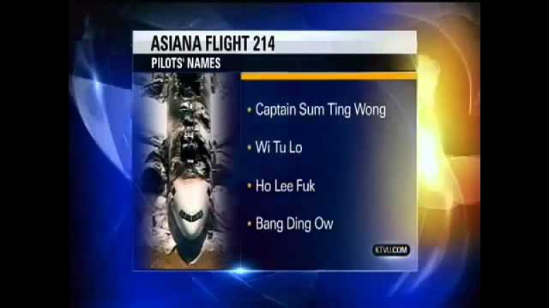 HO LEE FUK WI Tu Lo KTVU Flight 214 Fail Asiana Pilots Names