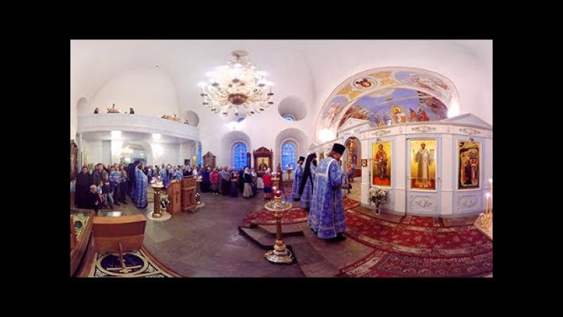 Соловецкие острова, служба в храме, Всенощная   Видео 360   Video 360 degrees