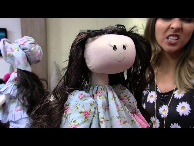 Mulher.com 22/08/2014 - Boneca Melaine por Silvia Torres - Parte 2