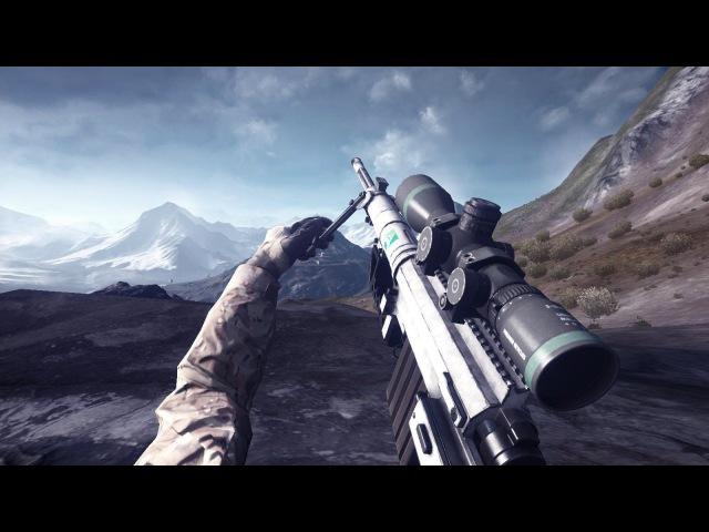 BF4: Altai Range Long Range Sniping Montage 500m (SRR-61)