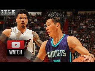 Jeremy Lin Full Highlights vs Heat (2015.10.28) - 17 Pts, Hornets Debut!