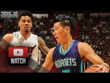 Jeremy Lin Full Highlights vs Heat (2015.10.28) - 17 Pts, Hornets Debut!