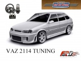 [ City Car Driving ] ВАЗ 2114 тюнинг (VAZ 2114 tuning) тест-драйв, обзор автомобиля, Racelogic