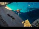 600 foot Insane Rope Swing over SHIPWRECK - in Greece in 4K! | DEVINSUPERTRAMP