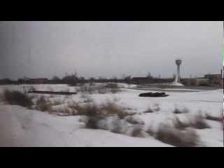 Вид из окна поезда отъезжая от станции Локня. 24 марта 2013 г.