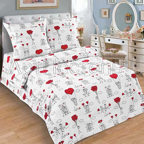 семейное постельное белье сатин с двумя пододеяльниками купить недорого
