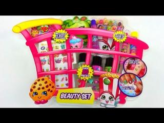 Шопкинс Корзинка с косметикой Открываем игрушки NEW Shopkins Ultimate Beauty Collection