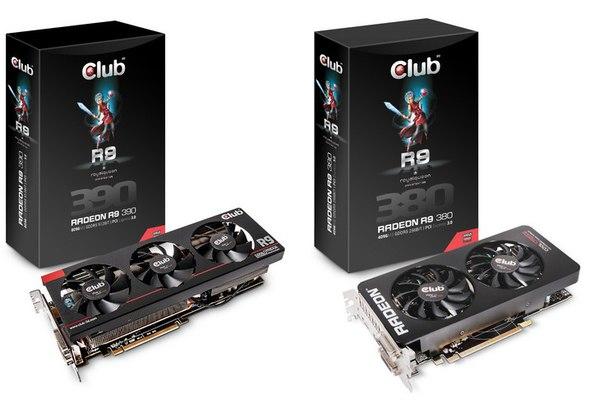 Новые видеокарты Club3D Radeon R7 300 и Radeon R9 300