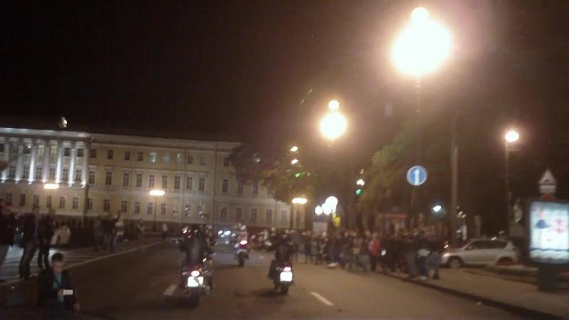 Файер-прохват.Санкт-Петербург,набережная,дворцовый мост,Невский проспект