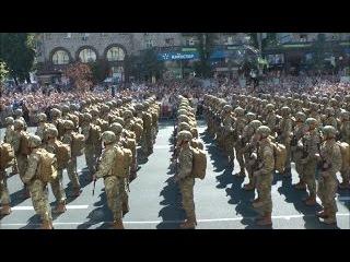 Штурмовой батальон Айдар.Парад в День Независимости Украины. Как это было