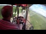 Самодельный самолет из поликарбоната - взлет и посадка с шоссе