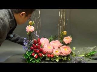 B 119 賀年絲花擺設 Silk Flower Arangement for Chinese Lunar New Year