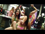 Sexy girls stripping at the Exxxotica (full coverage) porn star interview, cars, ...