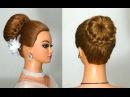 Прическа на средние и длинные волосы. Hairstyle for long hair
