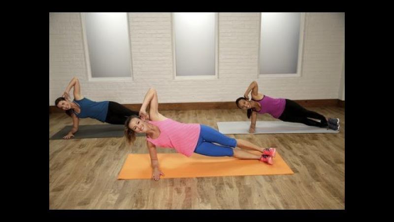 30-минутная тренировка Плоский живот: Кардио пресс. Day 18: 30-Minute Flat Belly Workout   Class FitSugar