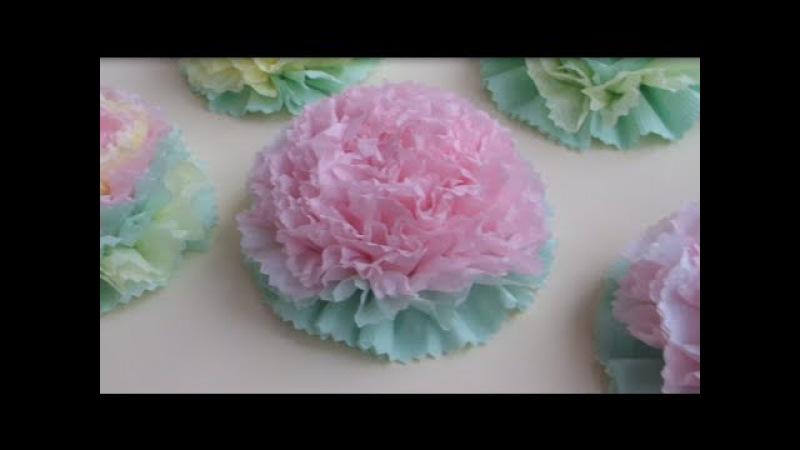 Как сделать ЦВЕТЫ ИЗ САЛФЕТОК Beautiful Paper Flower ✿ NataliDoma