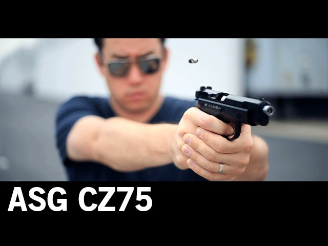 Airsoft GI - ASG CZ-75 Gas Blow Back Shell Ejecting Airsoft Pistol OEM by Marushin