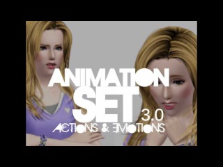 Third animation set - Action Emotion - Download (The Sims 3)
