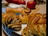 Ну очень красивые булочки с маком, корицей, вареньем, 6 видов форм булочек