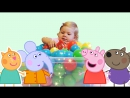 ✿ СВИНКА ПЕППА бокс с сюрпризами Surprise GIANT Peppa Pig box Balloon