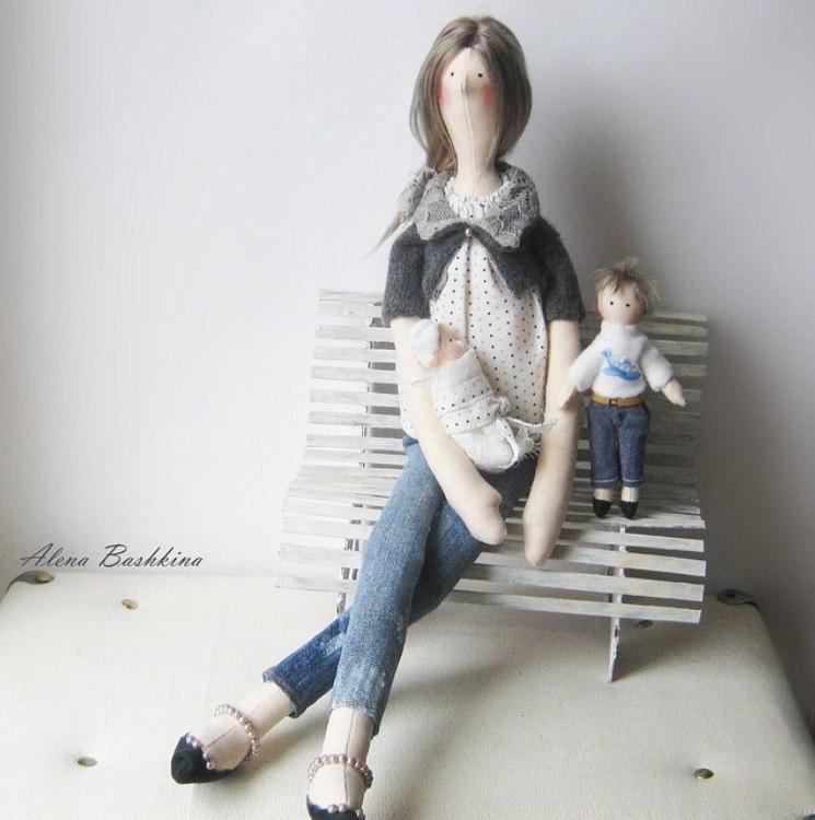 кукла мама с малышом