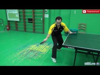 Уроки настольного тенниса. Начало по короткому мячу. Table tennis lessons 39