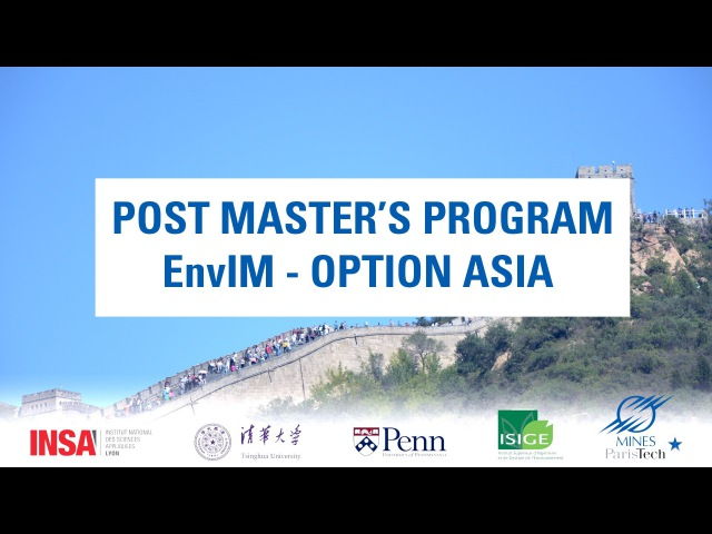Post Master's Program EnvIM Option Asia