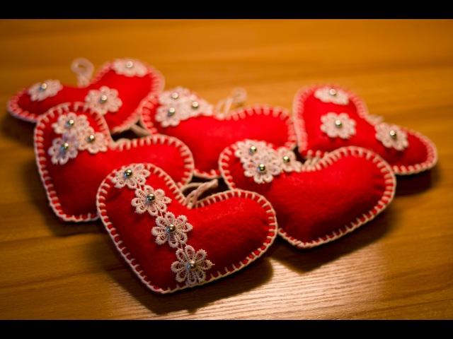 DIY Сердечко из фетра Valentines Day Felt Heart