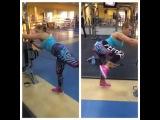 """Виктория Райкина on Instagram: """"Девушки!!!качайте попу,приседайте и мир измениться к лучшему!✊???#тренировка #ноги #попа #попакакорех #my #fitness #life #спорт #sport…"""""""