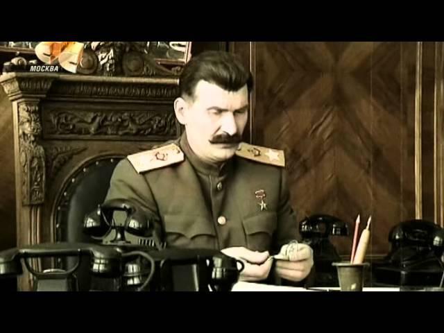 6 кадров Сталин и часы