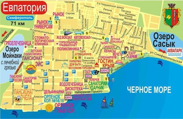 Евпатория карта где находится