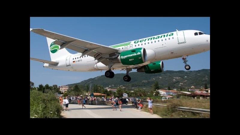 Skiathos Airport Head On Landings - Aircraft Spotting LGSK / JSI 2015