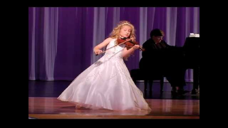 Remarkable 7-Year-Old Child Violinist Brianna Kahane Performs The Prayer on 1/4 Size Violin
