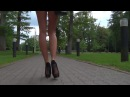 "Shorts and long legs in high heels popping a balloon ""Balloon Popper"" Trailer"