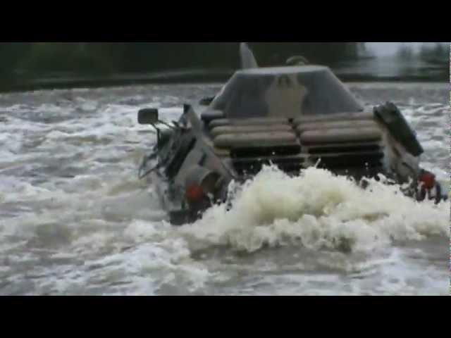 BRDM-2 БРДМ AMFIBIA Skok do wody прыжок в воду