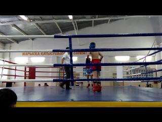 Дауренов Ильяс (Синий угол) - Второй бой (3раунд). Астана - 27.11.2015