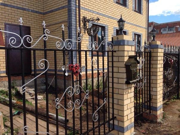 Забор, почтовый ящик номерная табличка на дом. Своими руками…. (6 фото)