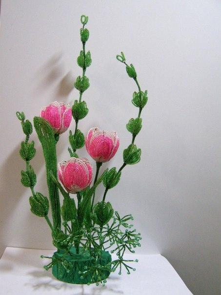 Мастер класс бисероплетение тюльпаны