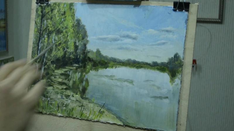 Sketching the Lake at Shilovo. Озеро в Шилово. Эскиз